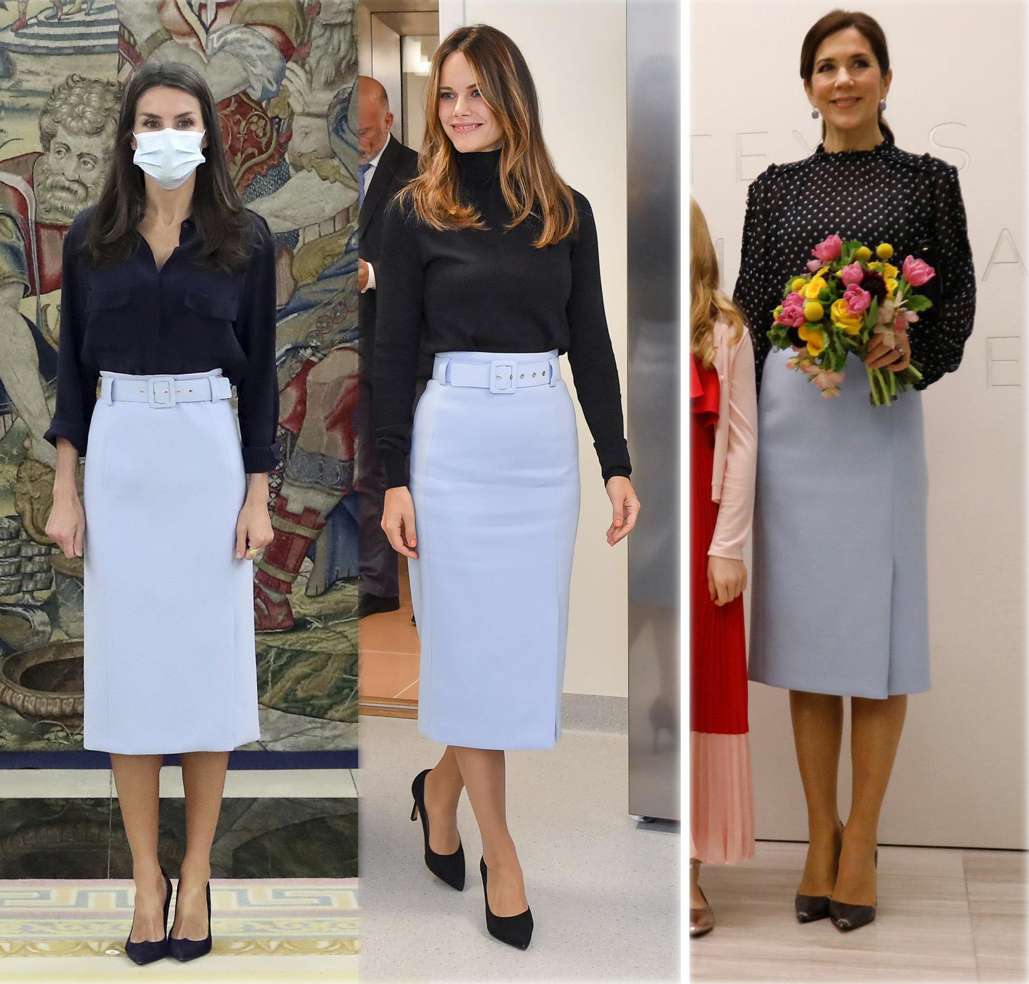 Doña Letizia,Sofía de Suecia y Mary de Dinamarca con la misma falda de Hugo Boss.