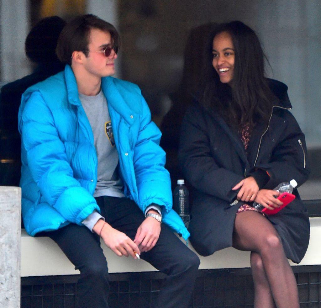 Malia y su novio Rory Farquharson.