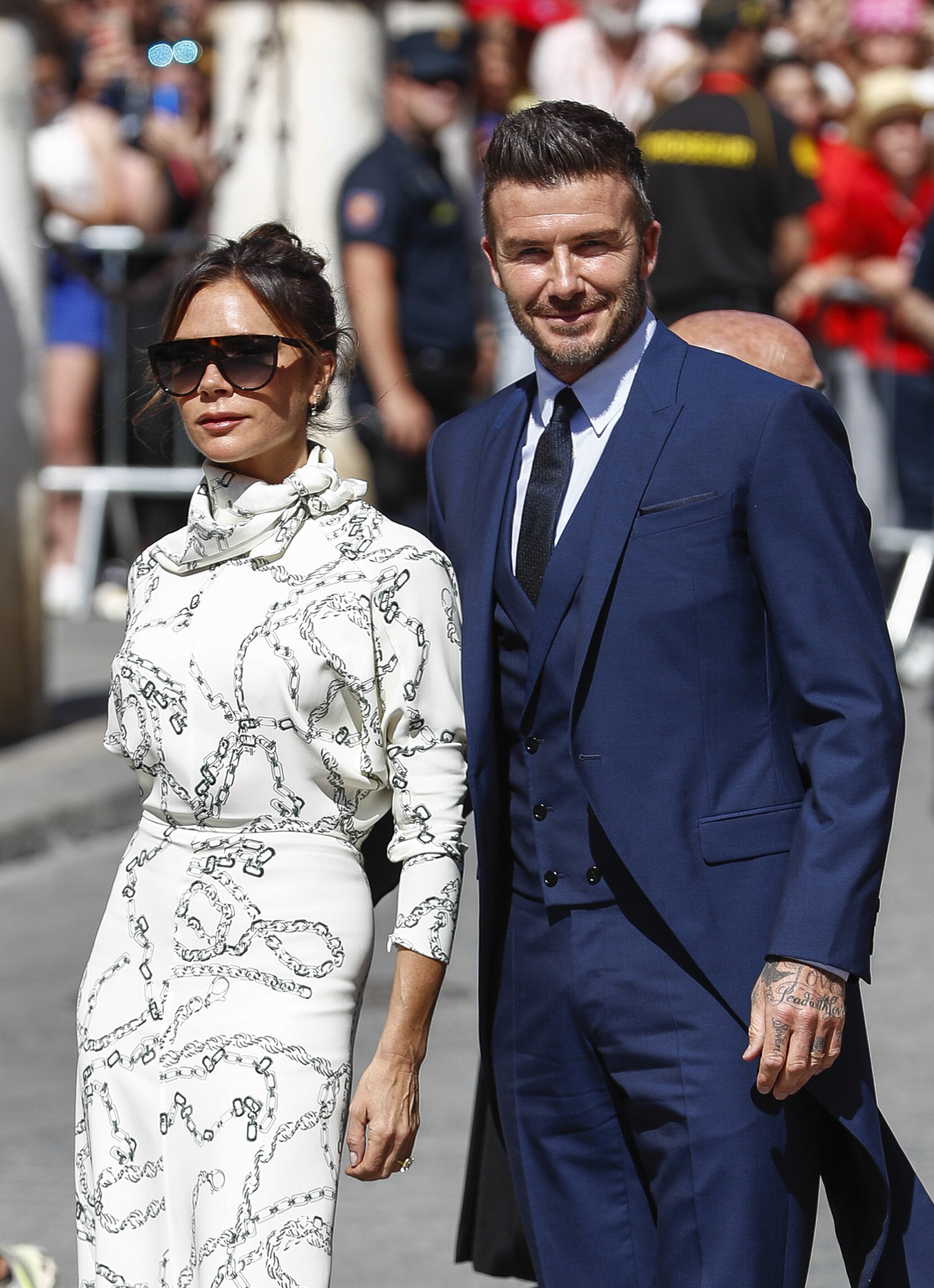 Victoria y David Beckham.