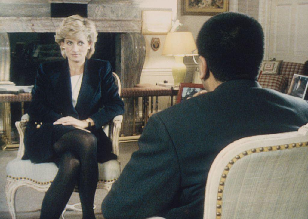 Diana durante su famosa entrevista.