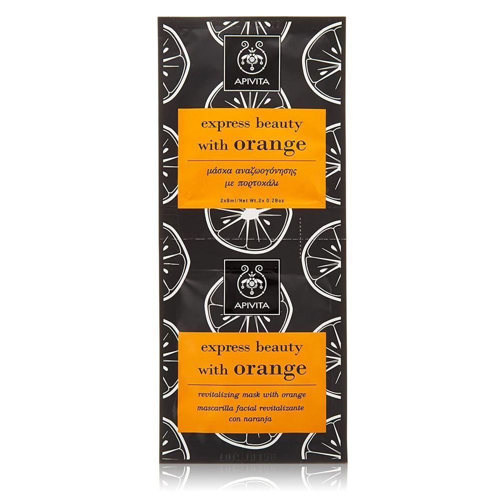 Mascarilla revitalizante Express Beauty con naranja de Apivita.