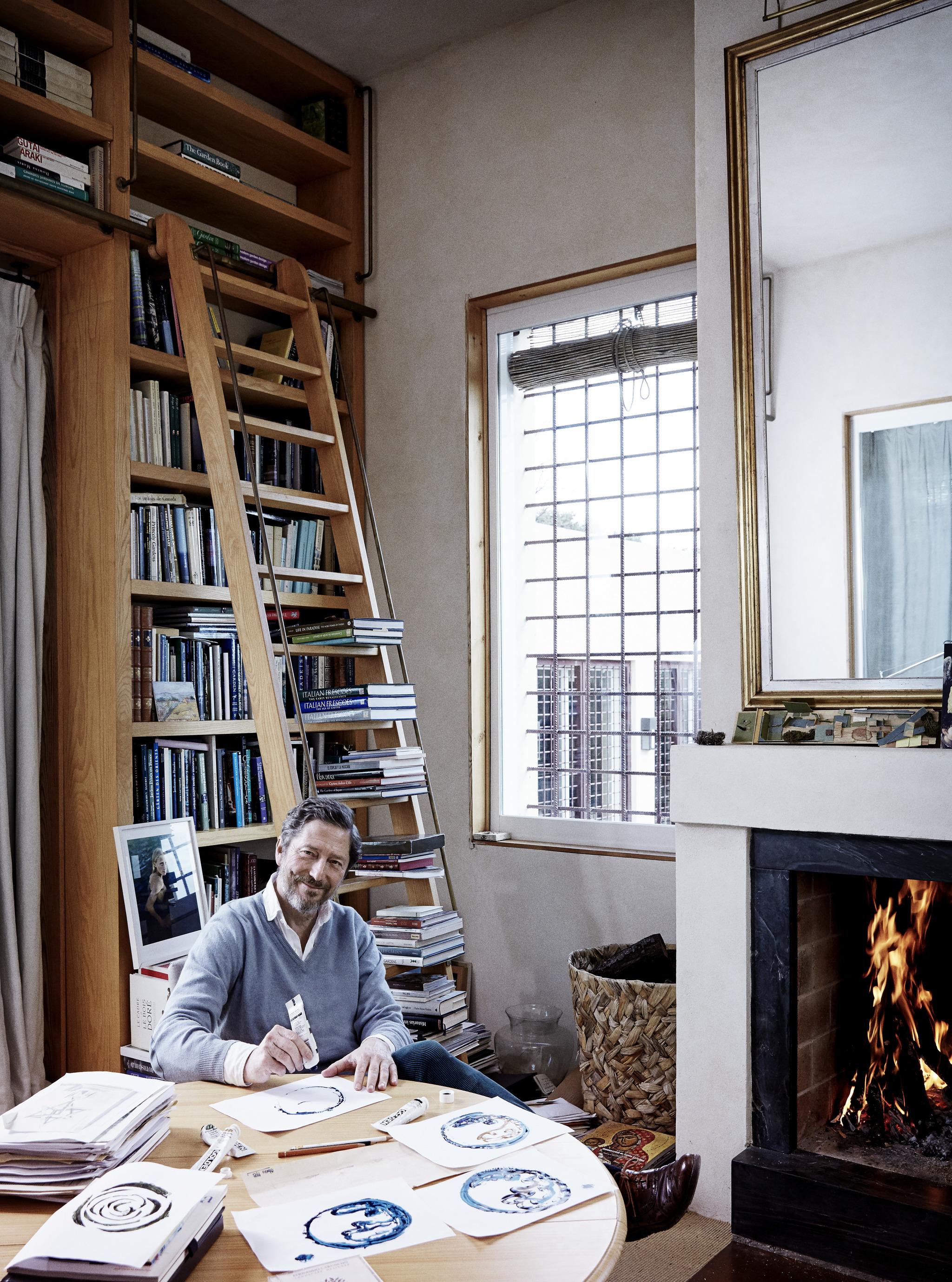 Fernando Caruncho en su estudio.