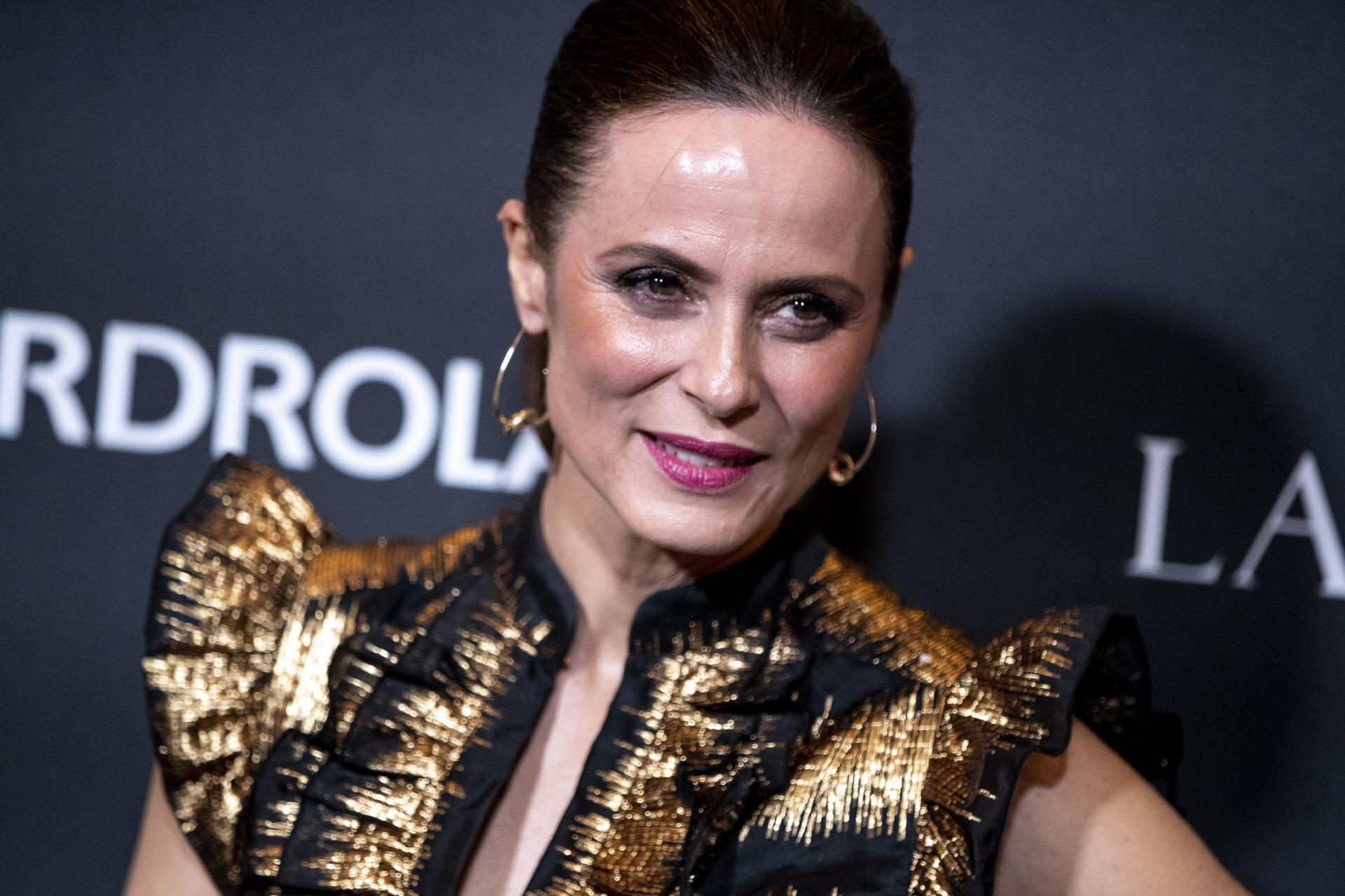 Aitana Sánchez Gijón en una gala de premios en Madrid.