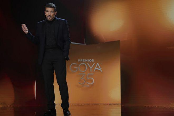Antonio Banderas en los Premios Goya 2021.