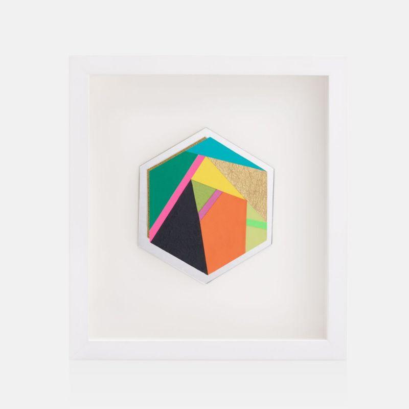 Cuadro con figura hexagonal