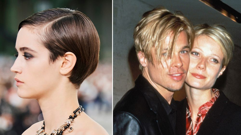 The short, rounded bowl cut from the Chanel show and the one worn by Brad Pitt and Gwyneth Paltrow in the a
