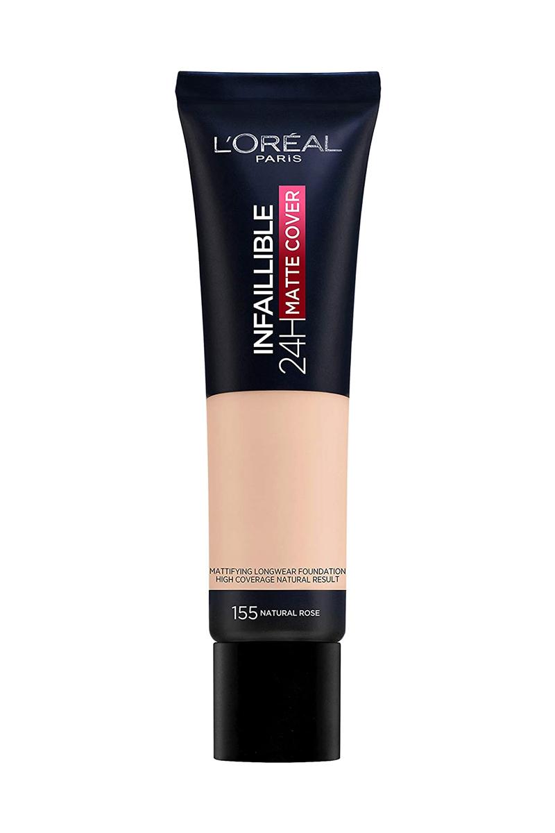 Pieles grasas y mixtas: Base de maquillaje Infalibre 24H Matte Cover de L'Oréal Paris.
