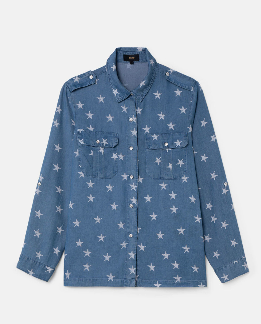 Camisa vaquera de estrellas.