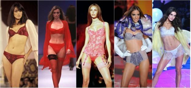 Las españolas que han desfilado para Victorias Secret: Helena Barquilla (1995), Esther Cañadas (1997), Eugenia Silva (1999), Clara Alonso (2008) y Blanca Padilla (2014).