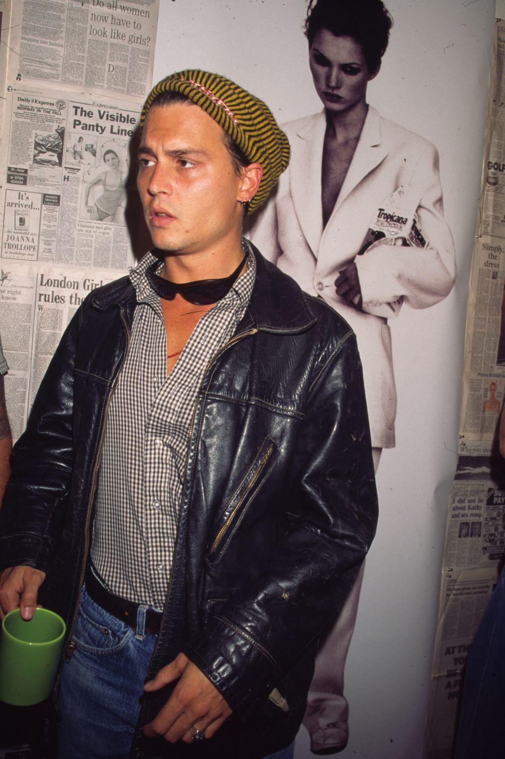 Jhonny Depp en una imagen de los 90.