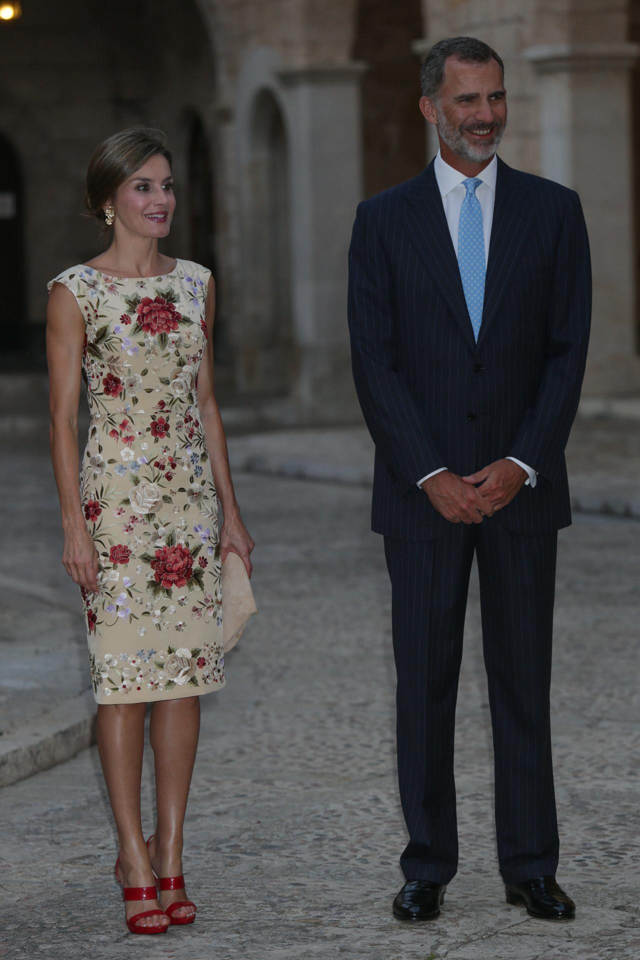 Los reyes en Palma de Mallorca en 2017.