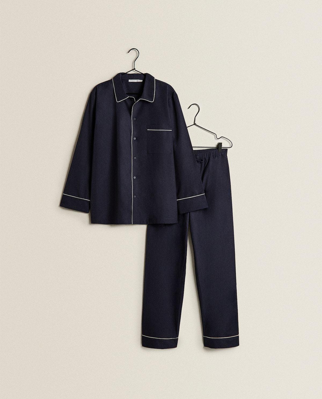 Pijama unisex azul personalizable.