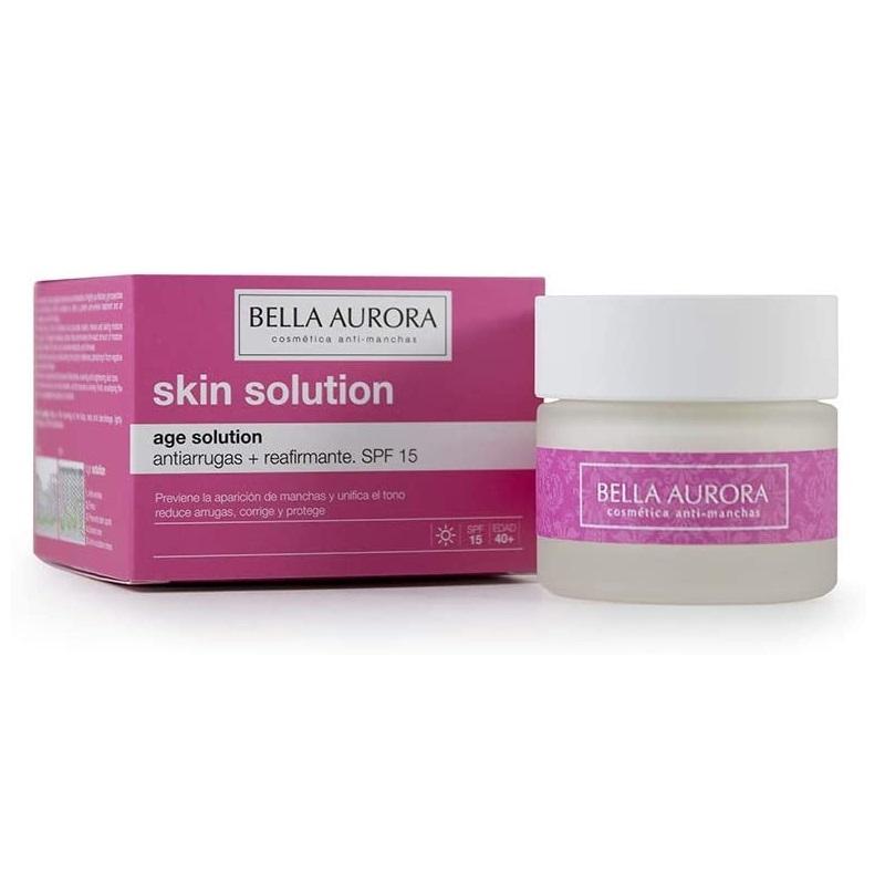 Crema facial antiarrugas, reafirmante y tratamiento antiedad, de Bella Aurora.
