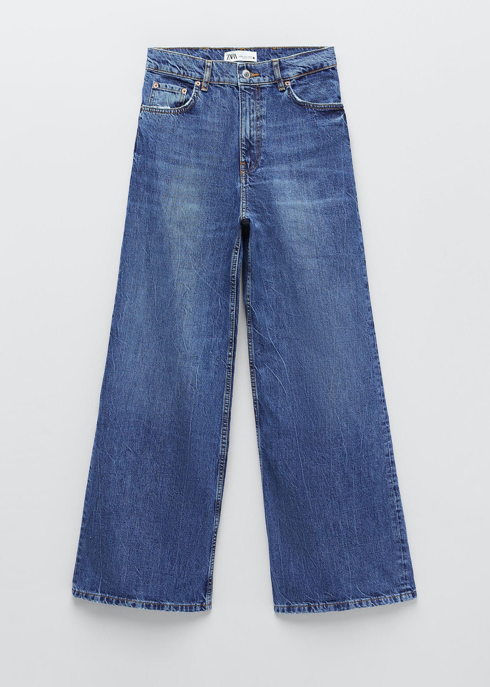 Jeans anchos de Zara.