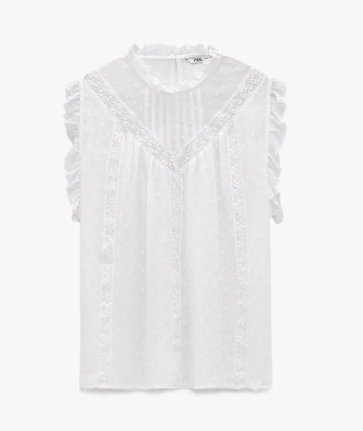 Blusa sin mangas, Zara.