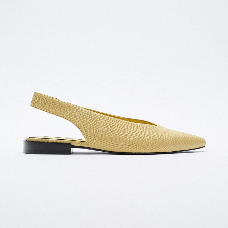 Zapato plano destalonado punta.