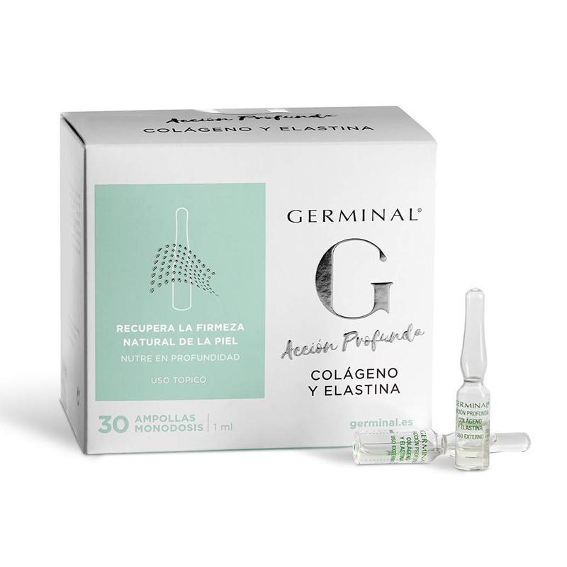 Ampollas con colágeno Germinal Acción Profunda Colágeno y Elastina.