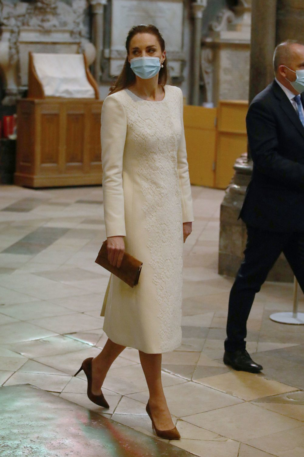 Kate Middleton's look during a ceremony at the Abbey of ...