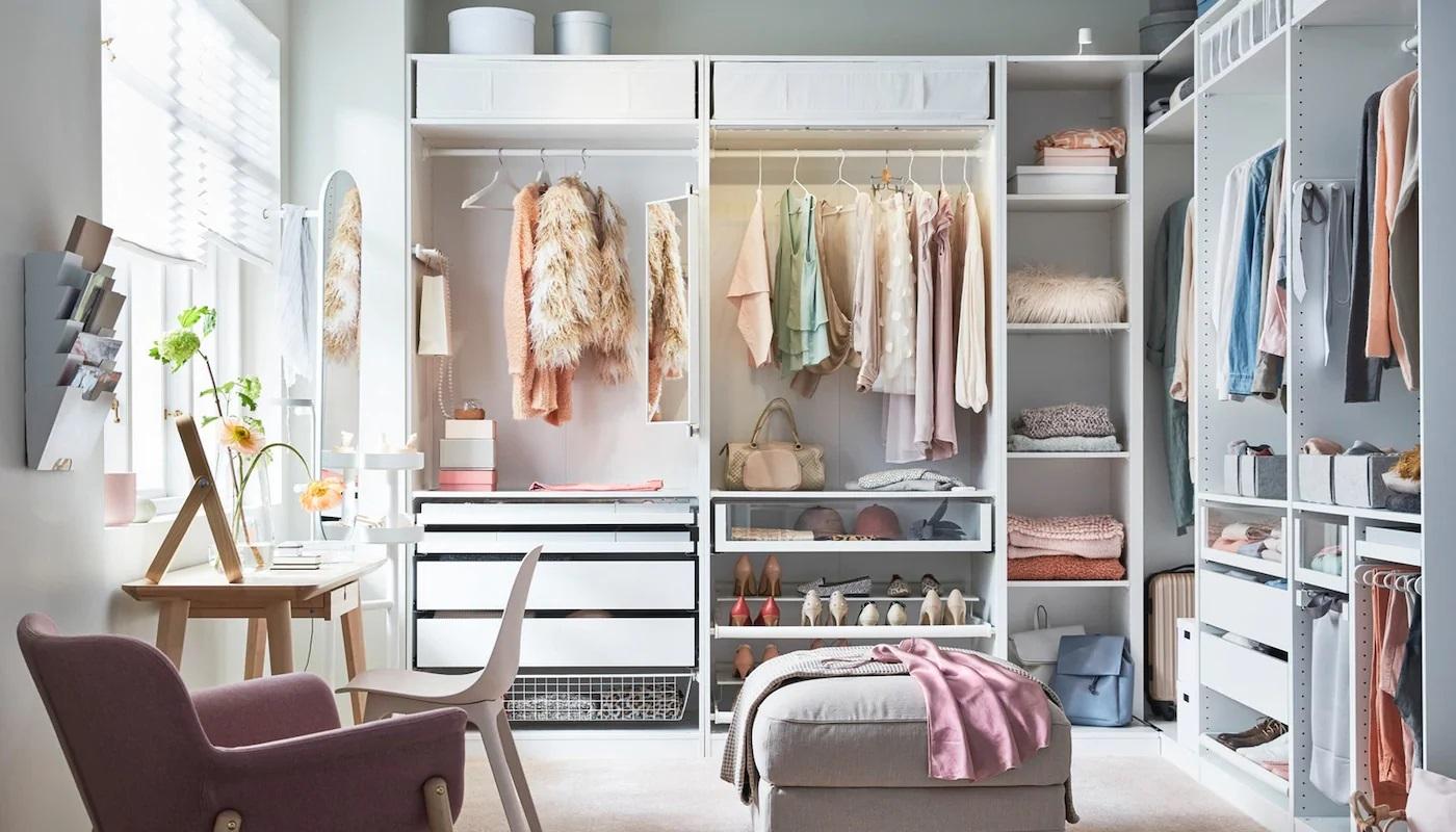 Propuesta de organización de armario, de IKEA.