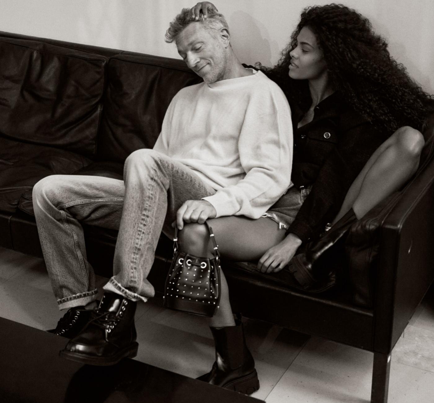 Tina Kunakey y Vincent Cassel en una exclusiva imagen de campaña para...