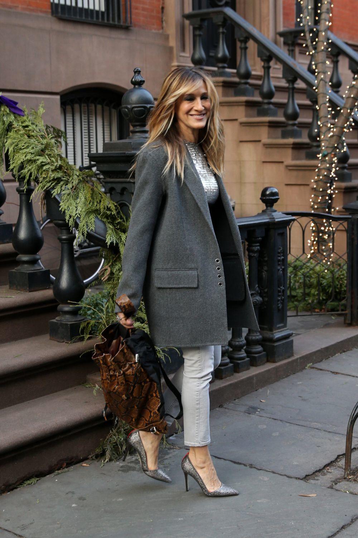 Sarah Jessica Parker saliendo de su apartamento en Nueva York.