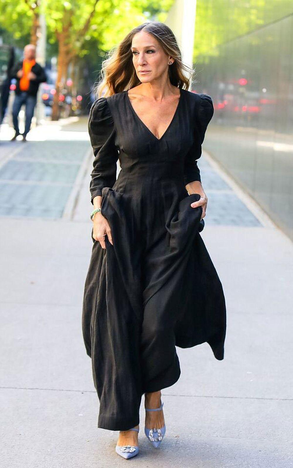 La actriz Sarah Jessica Parker con zapatos joya.
