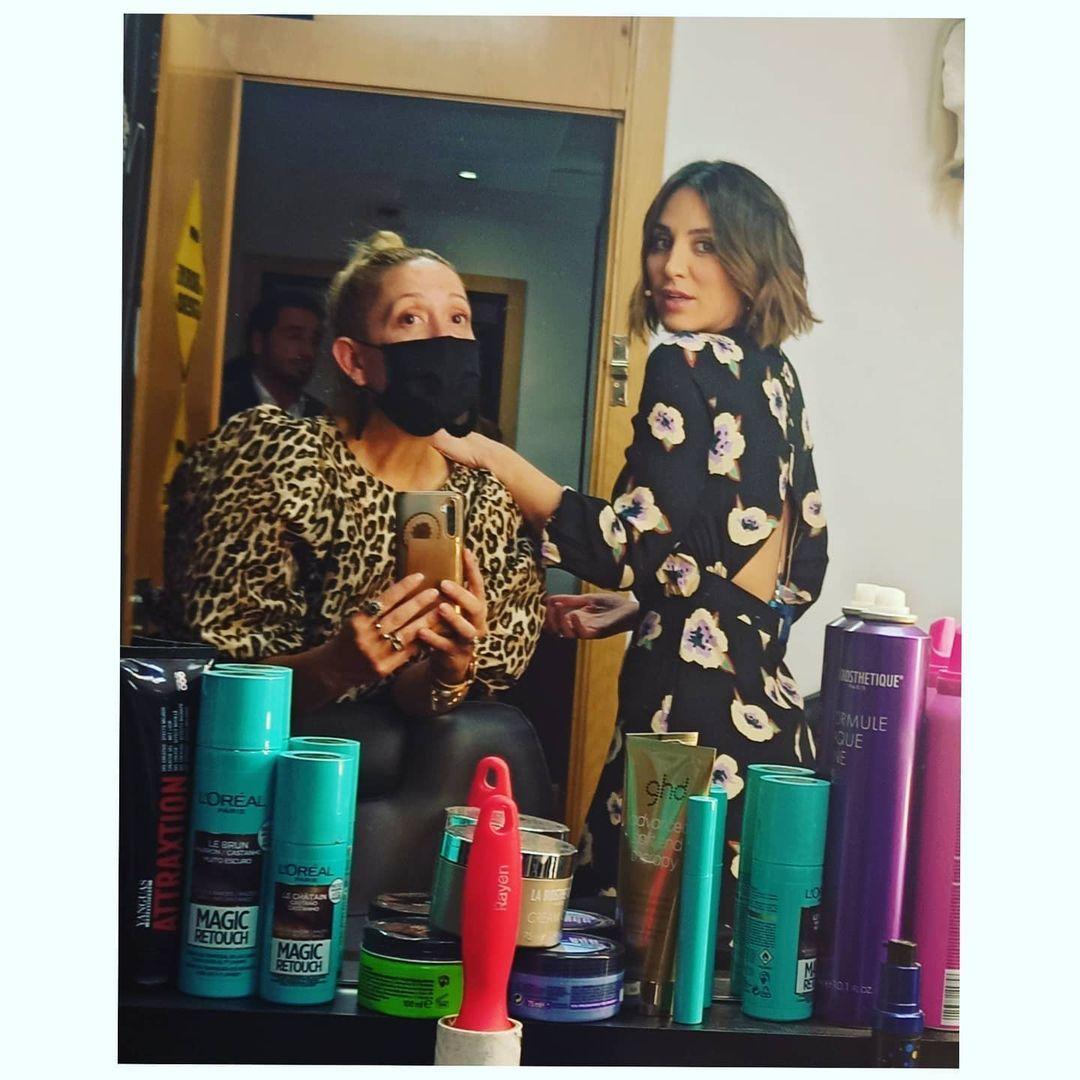 Tamara Falcó con la estilista Monste Nieto.