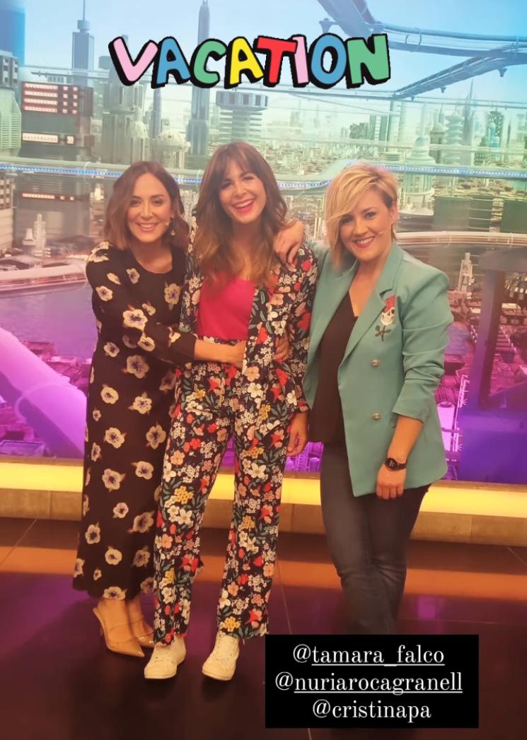 Tamara Falcó con Nuria Roca y Cristina Pardo.