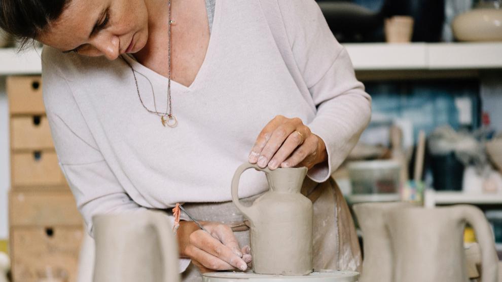 La ceramista Anna Westerlund