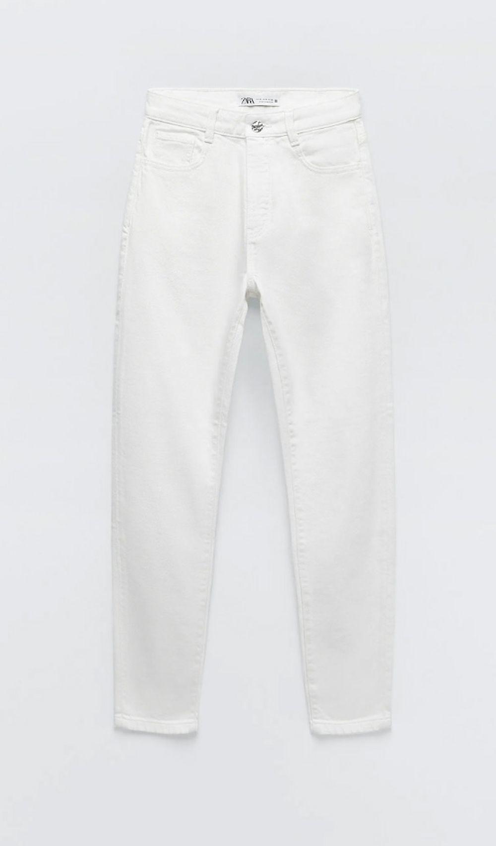 Jeans de color blanco.