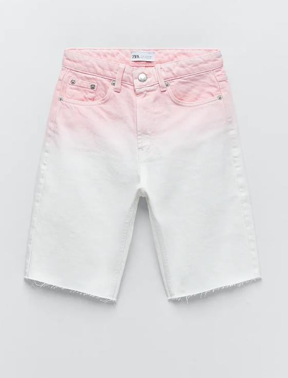 Bermuda blanca y rosa