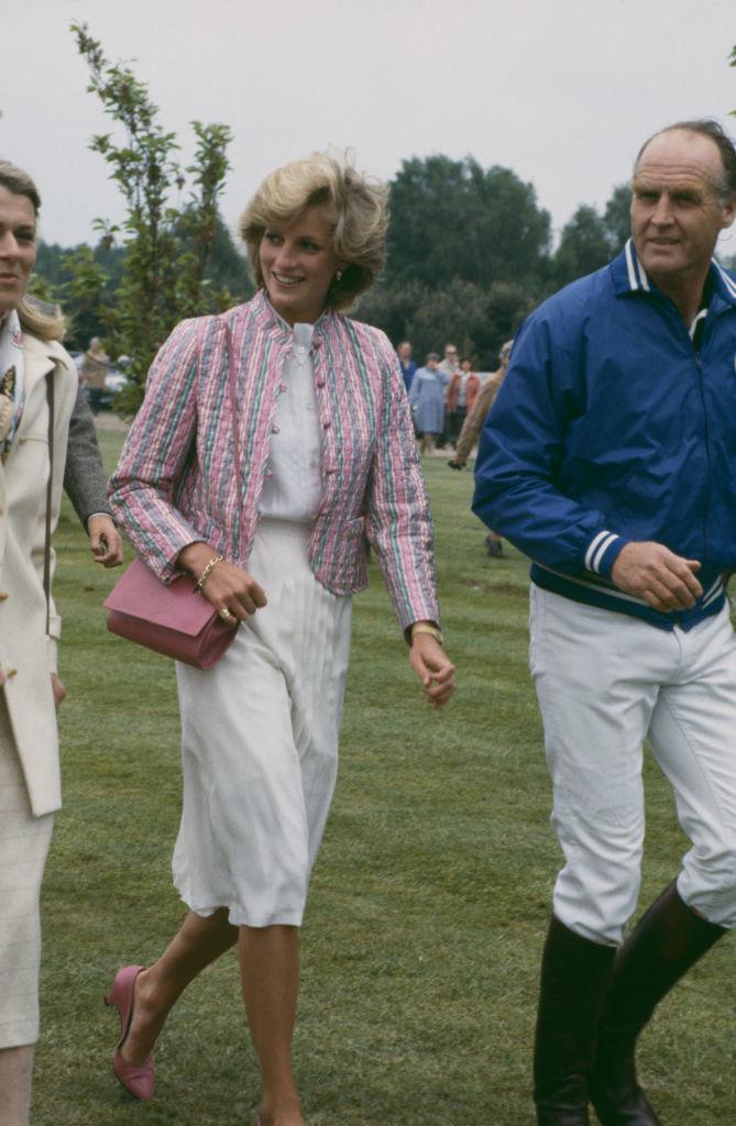 Lady Di con chaqueta guateada en Windsor (1983).