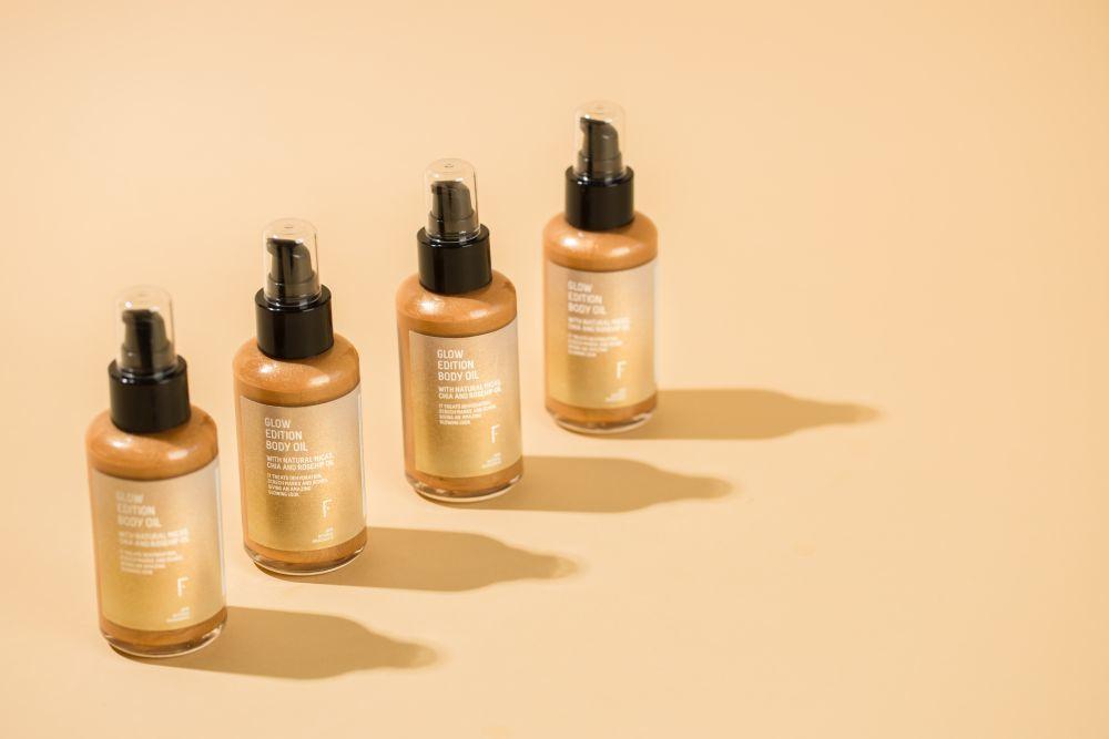 Iluminador corporal Glow Edition Body Oil de Freshly Cosmetics.