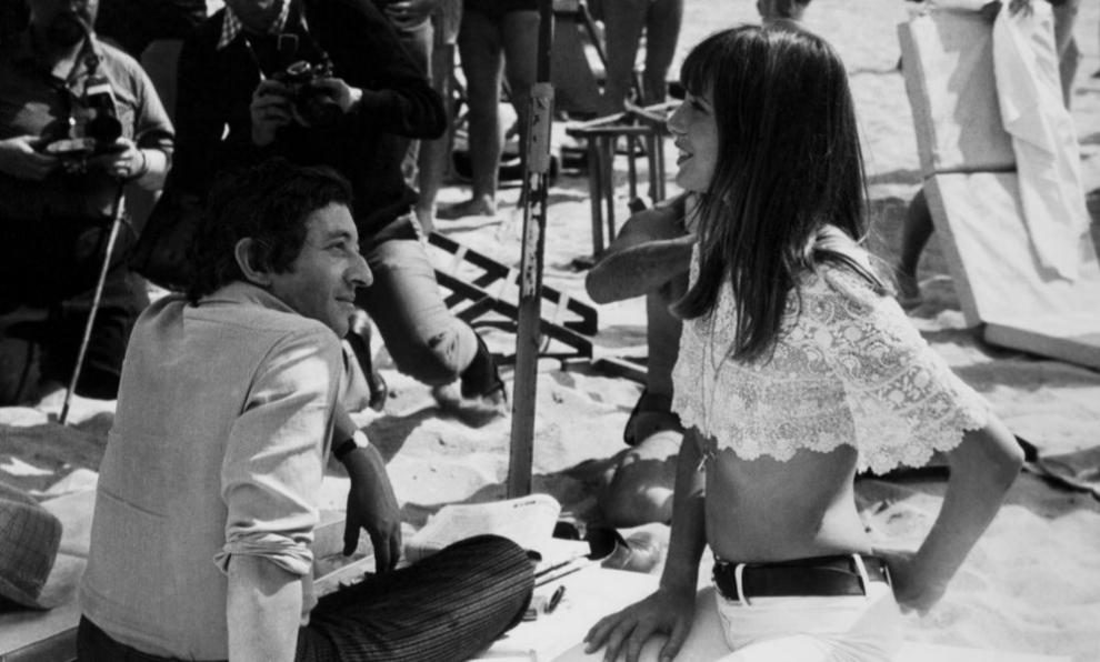 Jane Birkin en la Costa Azul.