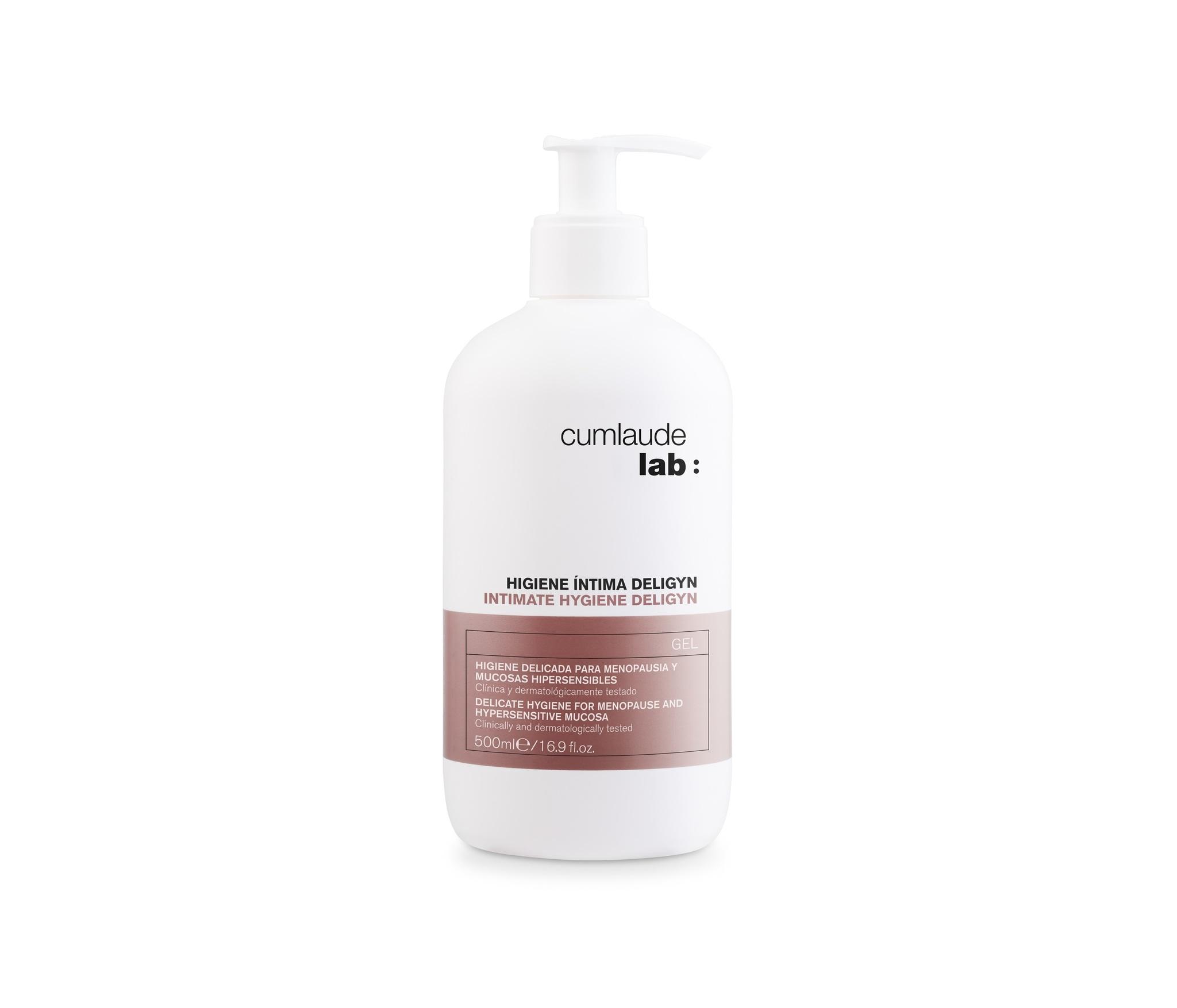 Cum Laude gel íntimo. pH ácido 3.8. No contiene parabenos.