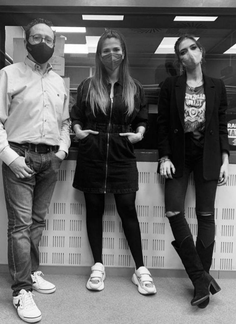 Sara Carbonero, Sara Sálamo y Vicente Ortega en Radio Marca