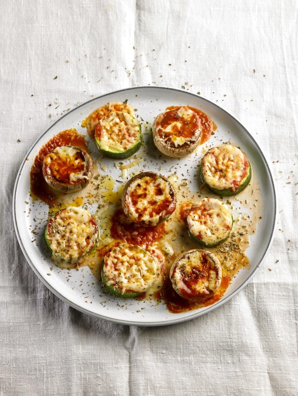 Minipizzas vegetales