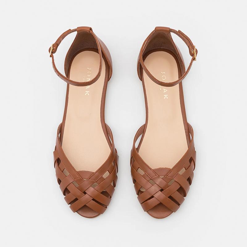Sandalias cangrejeras de piel, de Jonak