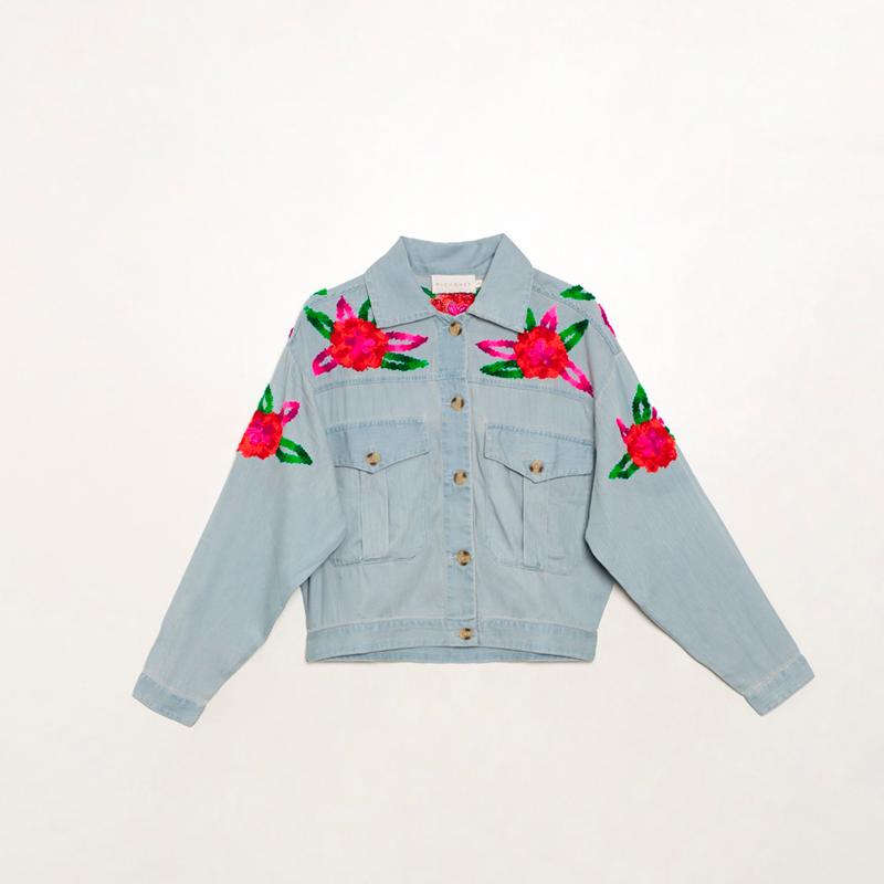 Camisa bordada flores