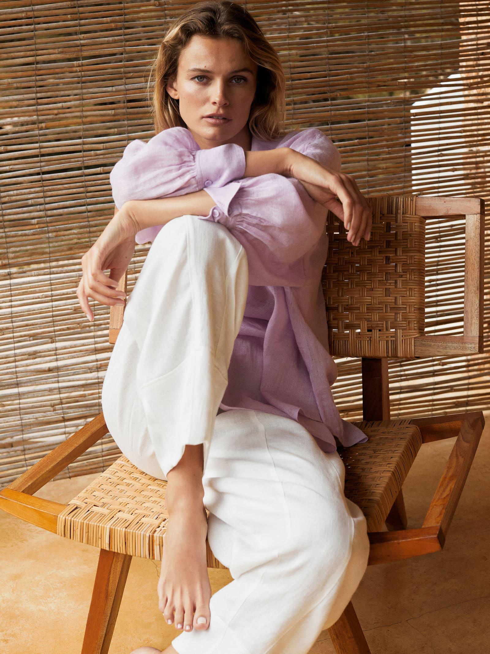 Look de la colección de lino 2021 de Massimo Dutti.