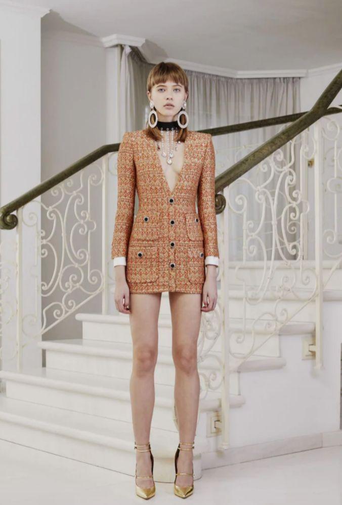 Mini vestido de tweed de Alessandra Rich