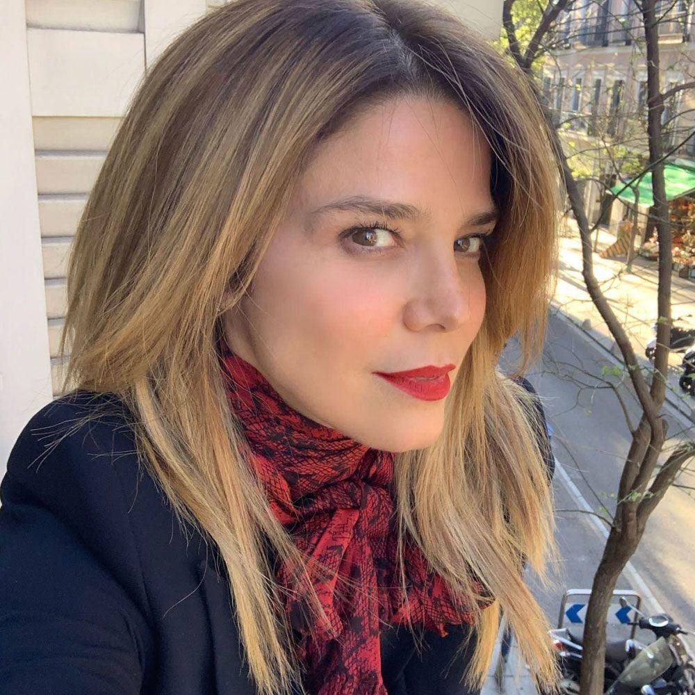 Juana Acosta con sus nuevas mechas balayage rubias más espectaculares.