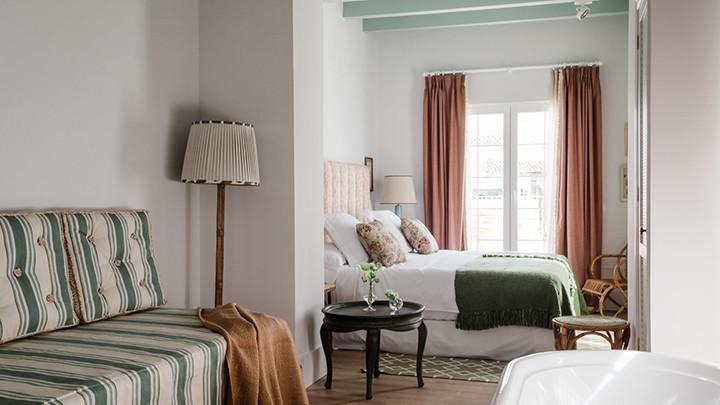 Habitación de Cristine Bedfor Guest House, en Mahón, Menorca.