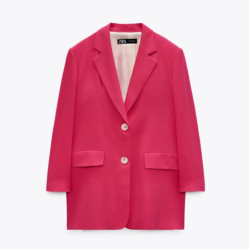 Blazer oversize rosa.