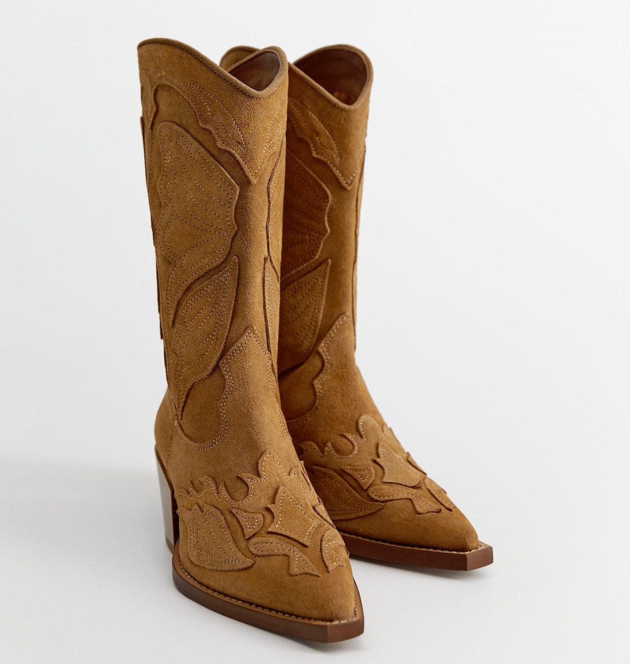 Botas cowboy de Mango Outlet.