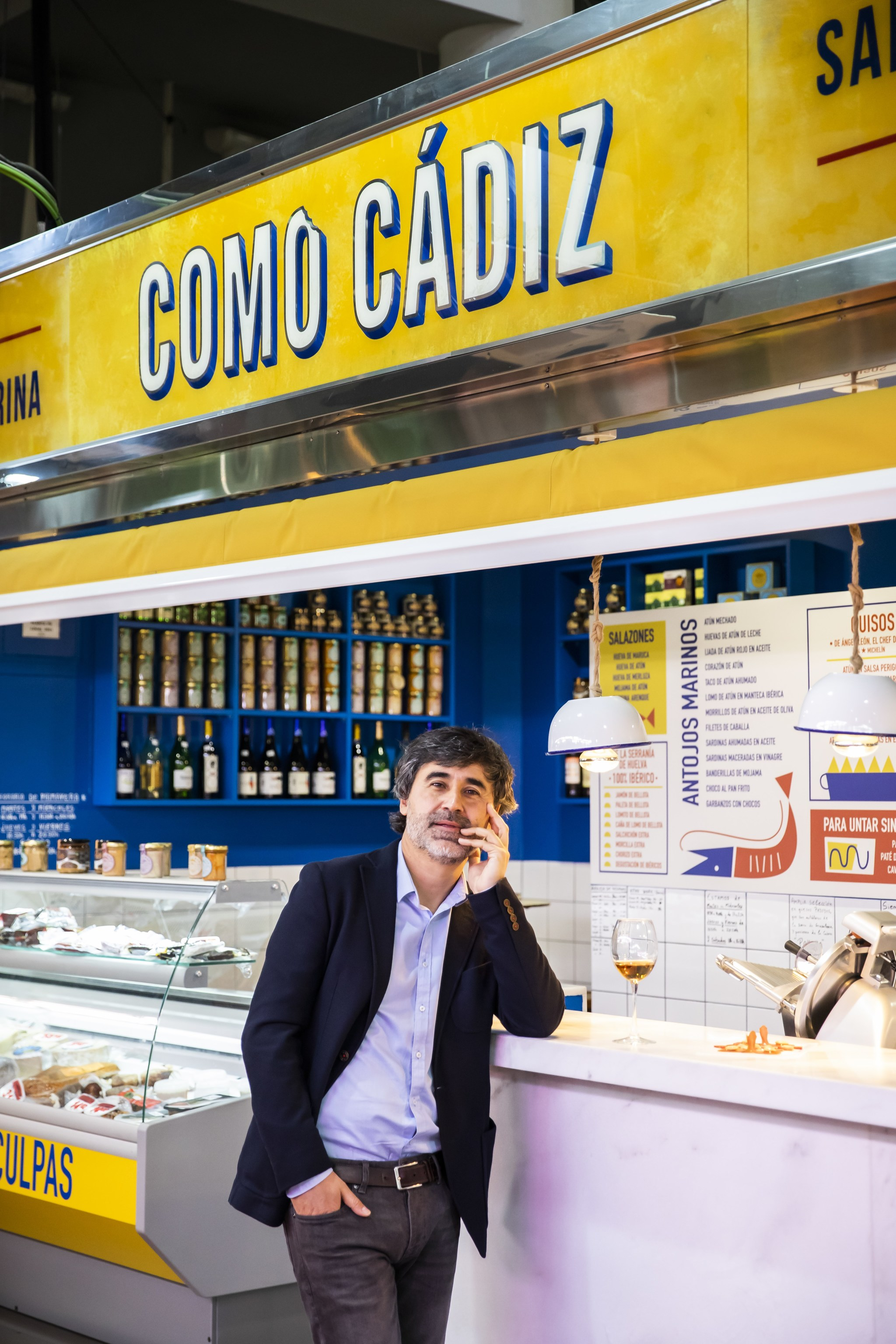 Pedro Simón en Como Cádiz, en el Mercado de la Cebada de Madrid