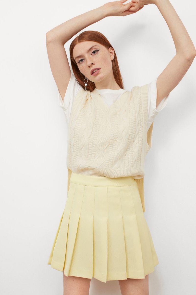 Falda mini plisada de H&M