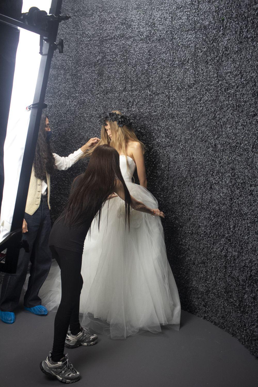 Shooting de la colección Vera Wang Bride.