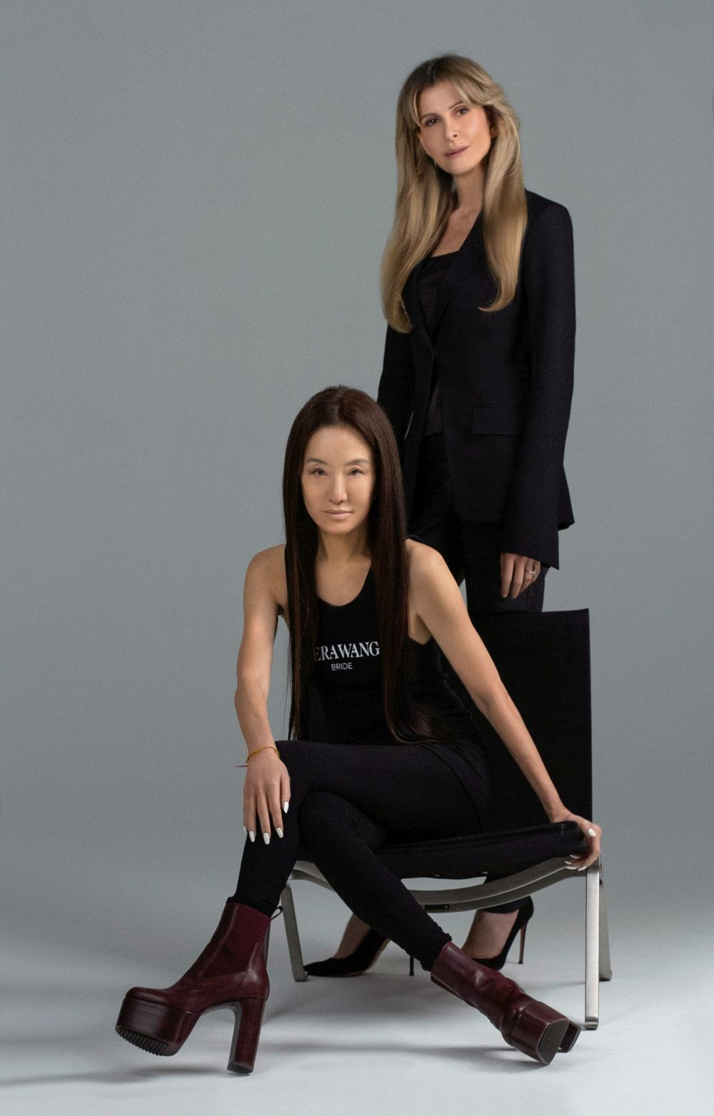 Vera Wang junto a Amadine Ohayon, CEO de Pronovias Group.