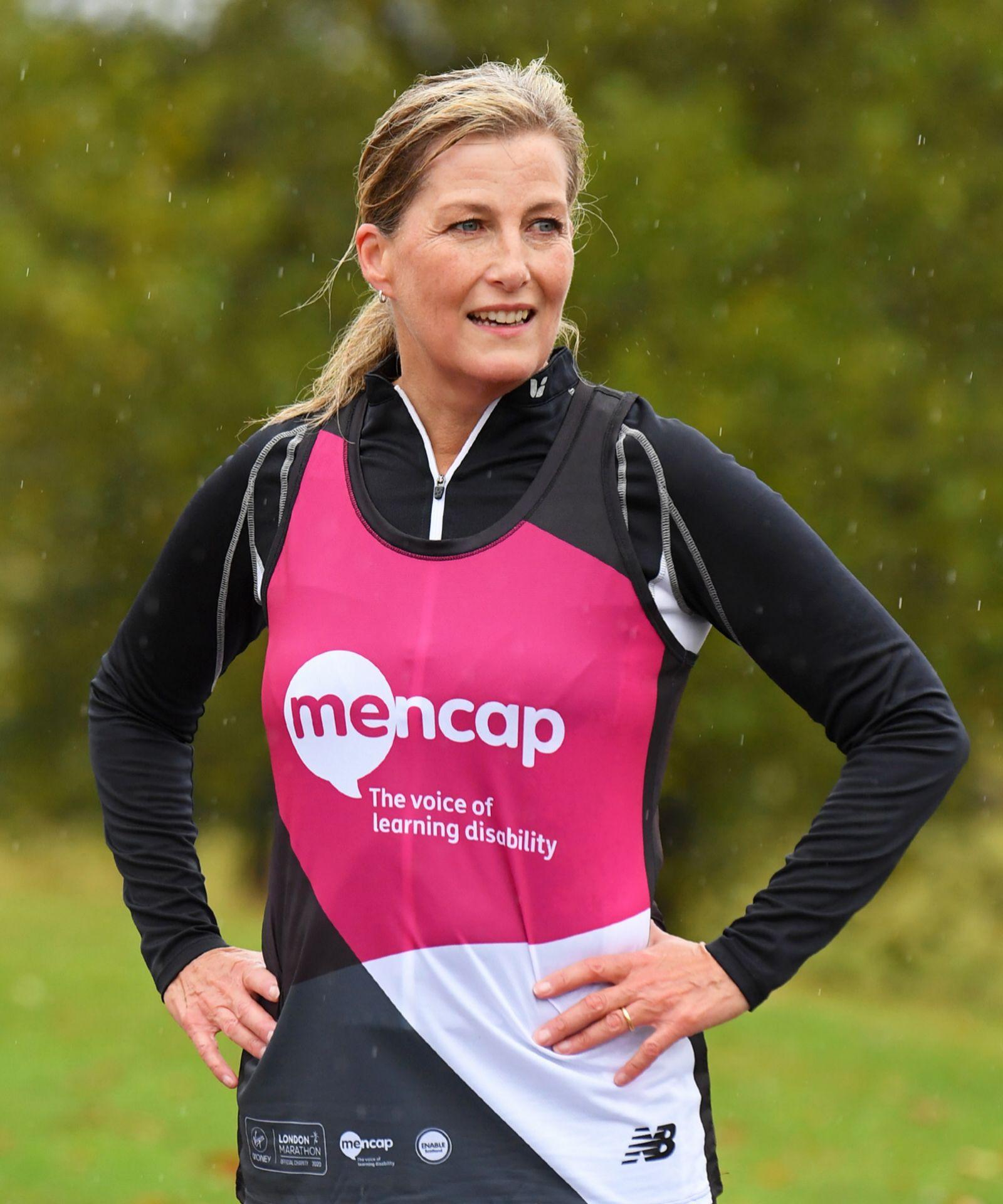 Sophie corriendo una maratón en Windsor.